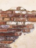 Old Brick & Plaster Wall. Italy, Mexico, Brick & Plaster Wall stock photos