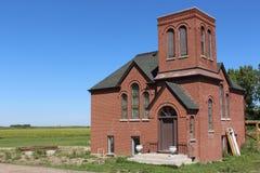 Old brick prairie church Saskatchewan Royalty Free Stock Images