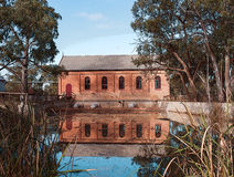 Old Brick Pump House, Psyche Bend, Australia. Royalty Free Stock Photography