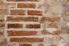 Old brick red brick wall for design to modern style royalty free stock images