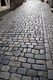 Old brick road. Cologne, Germany Stock Photos