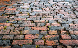 Old Brick Road Stock Photography