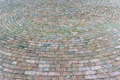 Old Brick Road Surface Shaped in a Circle Stock Photos