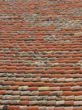 Old brick roof Stock Images