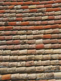 Old brick roof Stock Photo