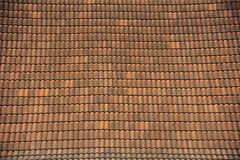 Old brick roof tiles Stock Photo