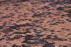 Old brick roof tiles Royalty Free Stock Image
