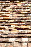 Old brick roof tiles Stock Image