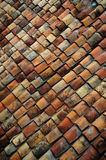 Old brick roof tiles Royalty Free Stock Photo