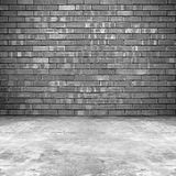 Old brick room background royalty free stock photos