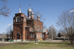Old brick Russian Orthodox church Royalty Free Stock Images