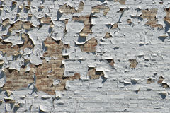 Old brick scraped wall Stock Images