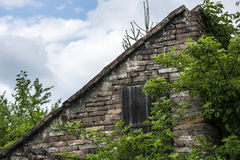 Old brick shed Stock Photography