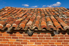 Old brick shed roof Royalty Free Stock Photos