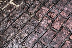 Old brick sidewalk Royalty Free Stock Images