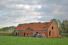 Old brick stable ruin Royalty Free Stock Photos
