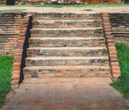 Old brick stair Royalty Free Stock Photos