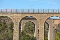 Old brick stone bridges in Teruel, Aragon. Spain. Royalty Free Stock Image