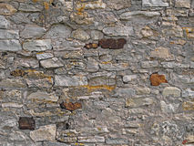 Old brick stone wall background, rural mediterranean stonewall Stock Image