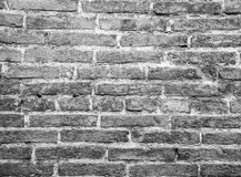 Old brick and stone wall. Old brick and stone wall, black and white Royalty Free Stock Photo