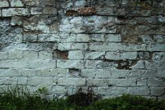 Old brick and stone wall stock photography