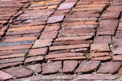 Old Brick Street Paving Stock Photography