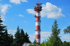 Old brick television tower Stock Image