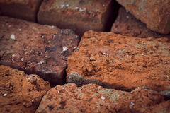Old brick , texture macro Stock Photos