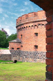 Old brick tower. Dona in Kenigsberg (Kaliningrad), Russia Royalty Free Stock Photos
