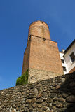 Old brick tower. And stone wall Royalty Free Stock Photography