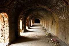 Old brick tunnel Royalty Free Stock Photo