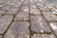 An old brick walkway Stock Photos
