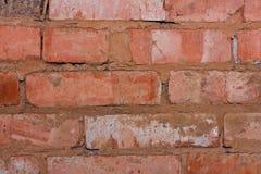 Old brick wall. Closeup of old brick wall Royalty Free Stock Photos