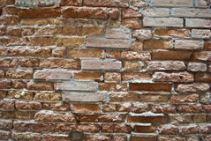 Old brick wall. Detail of an old brick wall from an historic building Royalty Free Stock Photos