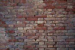 Old brick wall. Grungy brick wall texture, horizontal Stock Images