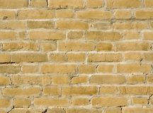 Old brick wall. Frontal view of an old brick wall Stock Images
