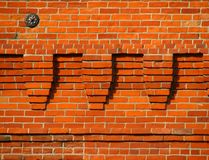 Old brick wall. Old red brick wall detail Royalty Free Stock Images