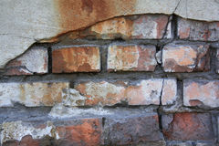 Old brick wall. With cracks Stock Photography