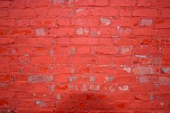 Old brick wall. Old and cracked red brick wall Stock Images