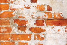 Old brick wall. Texture of the abstract old brick wall Stock Photography