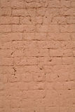 Old brick wall. Newly painted terra cotta color Royalty Free Stock Photography