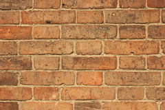 Old brick wall. Old red brick wall - full scale background Royalty Free Stock Images