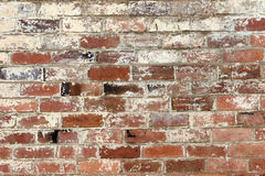 Old brick wall. Texture background with worn off paint Stock Photography