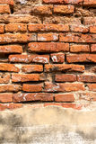 Old brick wall. With fracture stock photo