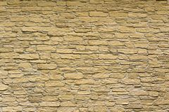 Old brick wall. On the facade of the house Royalty Free Stock Images