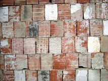 Old brick wall. Background - red white Royalty Free Stock Images
