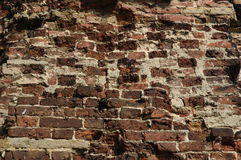 Old brick wall. Old wall from a red brick Royalty Free Stock Photography