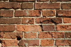 Old brick wall. Old wall from a red brick Stock Image