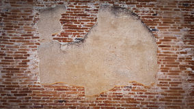 Old brick wall. In ancient temple in Thailand Royalty Free Stock Photography