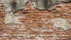 Old brick wall. In ancient temple in Thailand royalty free stock images